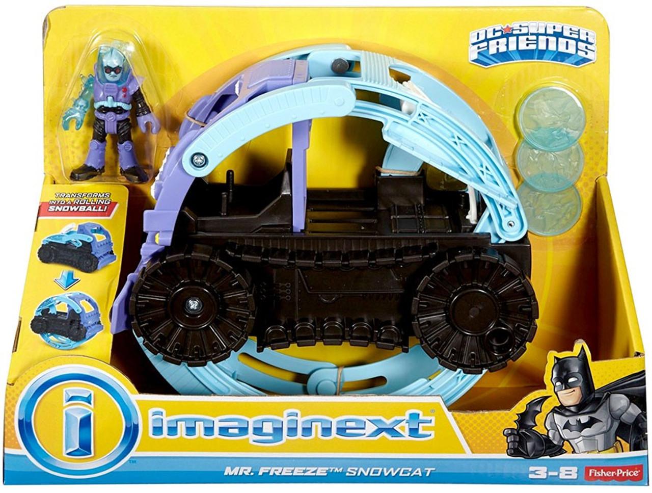 Fisher Price DC Super Friends Imaginext Mr. Freeze Snowcat 3 ...