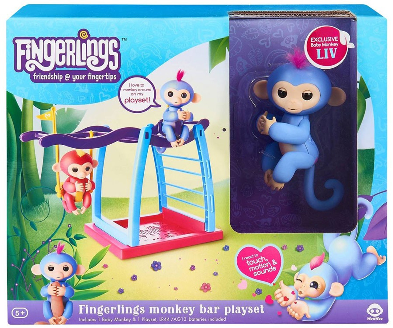 Fingerlings Fingerlings Monkey Bar Playset WowWee - ToyWiz
