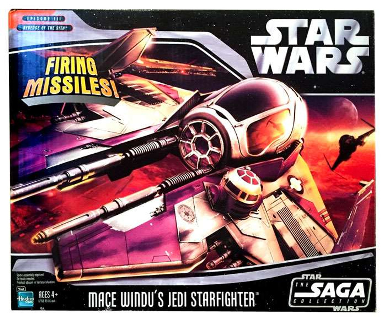 Star Wars Revenge of the Sith 2006 Saga Collection Mace Windu's Jedi Starfighter Action Figure Vehicle