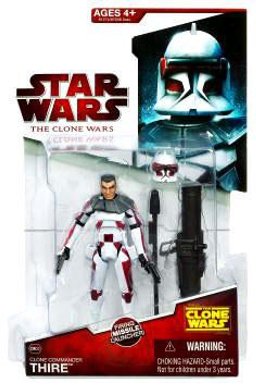 Star Wars The Clone Wars Clone Wars 2009 Commander Thire Action Figure CW32