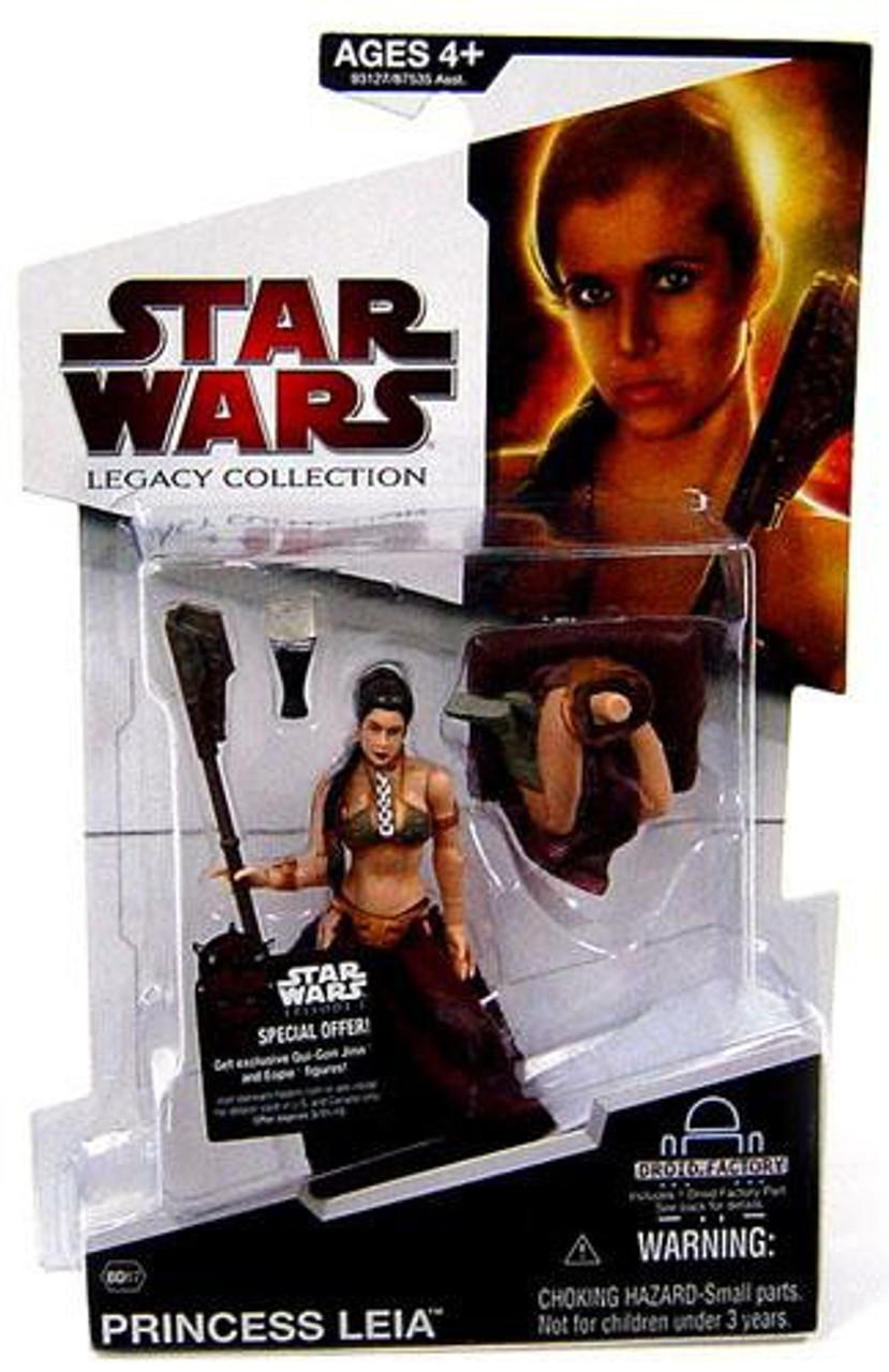 Star Wars Return of the Jedi Legacy Collection 2009 Droid Factory Princess Leia Action Figure BD17 [Jabba's Slave]