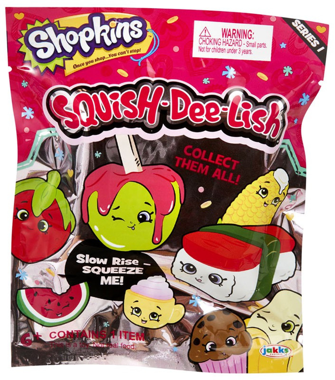 Squish Delish Wacky Series : Squish-Dee-Lish Shopkins Series 1 Mystery Pack Jakks Pacific - ToyWiz