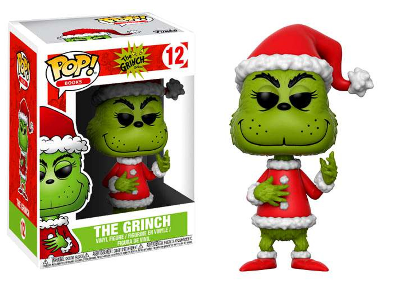 Funko Dr. Seuss How the Grinch Stole Christmas POP Books Santa ...