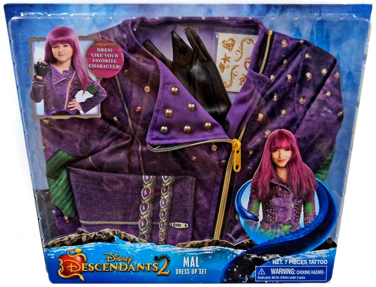 Disney Descendants Descendants 2 Mal Dress Up Kit Hasbro