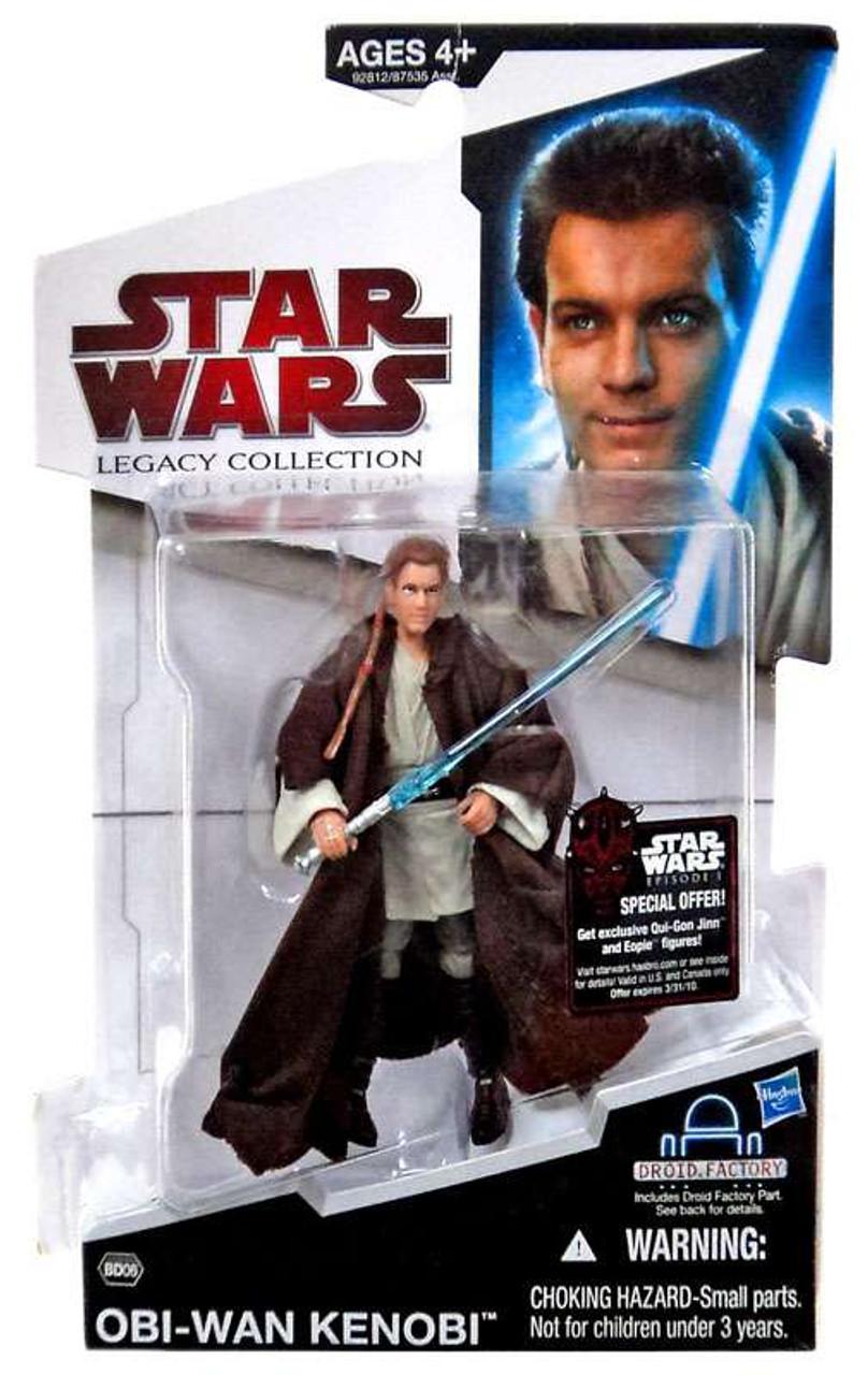 Star Wars The Phantom Menace Legacy Collection 2009 Droid Factory Obi-Wan Kenobi Action Figure BD06