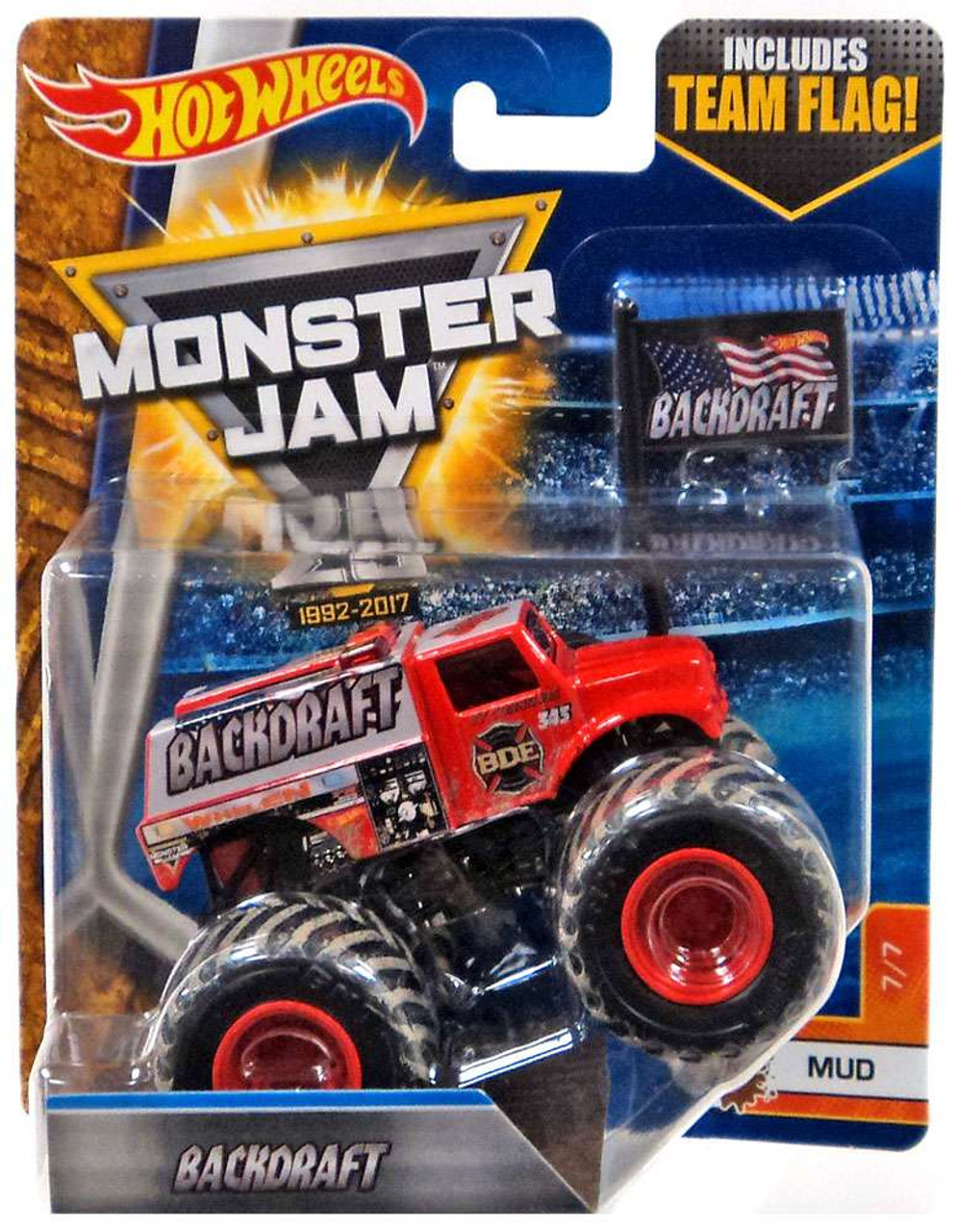 hot wheels monster jam 25 backdraft 155 diecast car 77 mud mattel toys toywiz. Black Bedroom Furniture Sets. Home Design Ideas