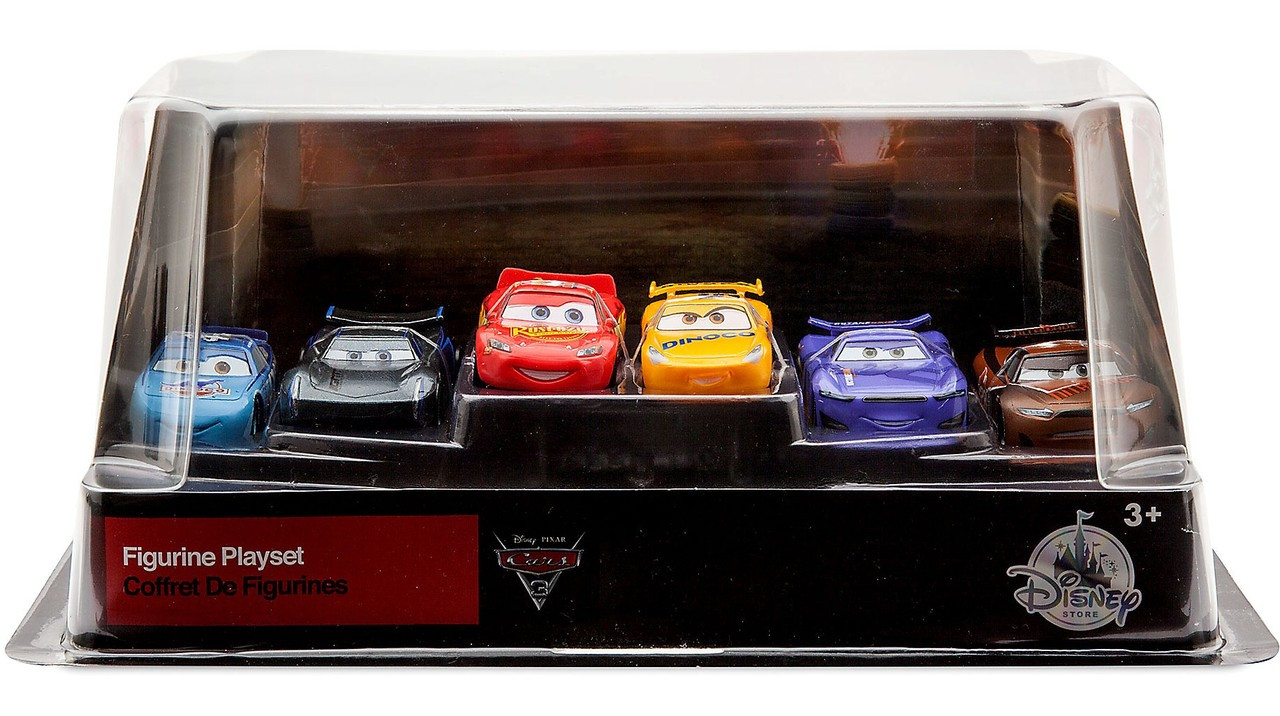 disney cars cars 3 cars 3 143 6 piece pvc figurine playset includes jackson storm tim treadless. Black Bedroom Furniture Sets. Home Design Ideas
