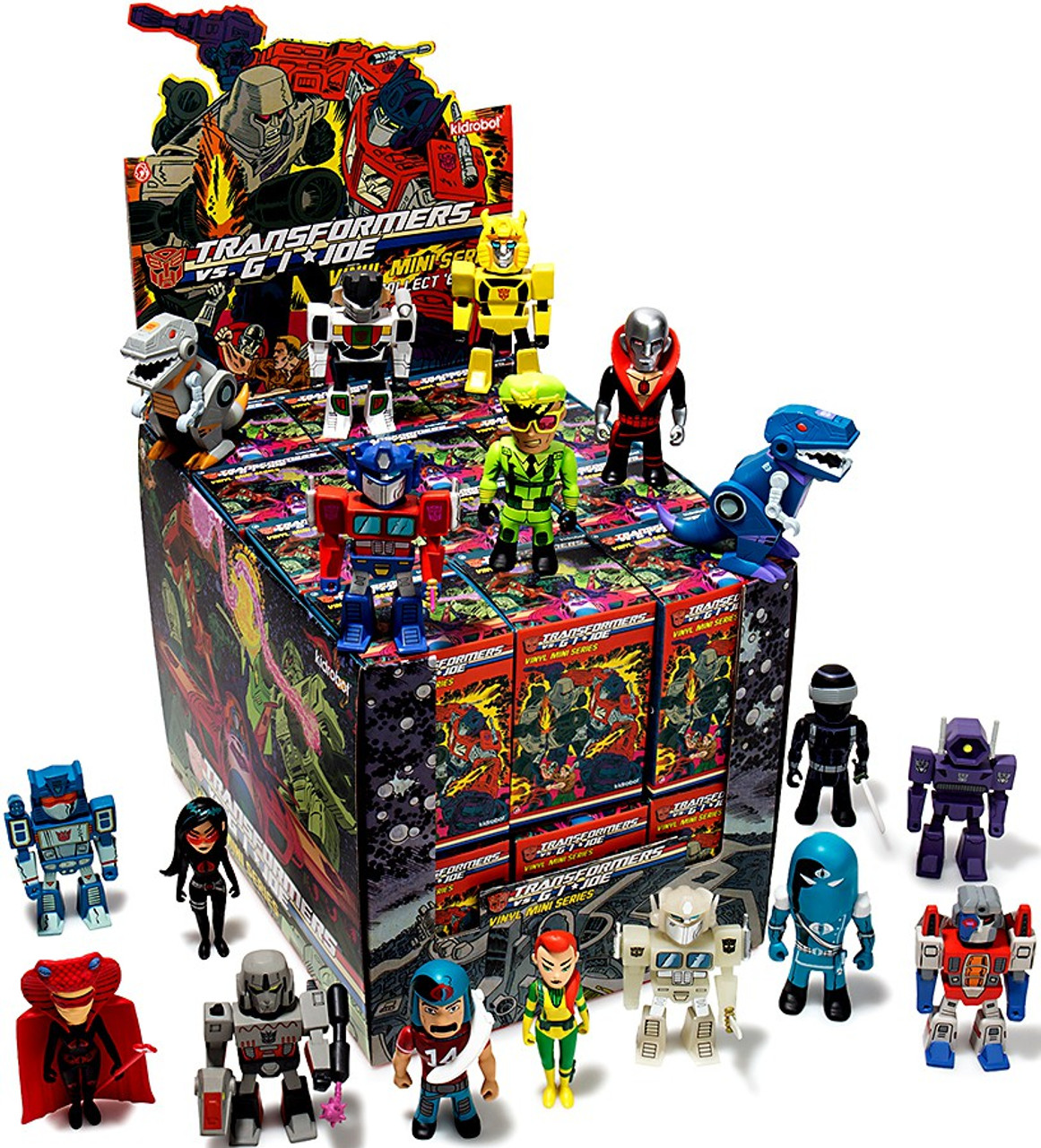 Transformers & GI Joe Vinyl Mini Series Mystery Box [24 Packs] (Pre-Order ships January)