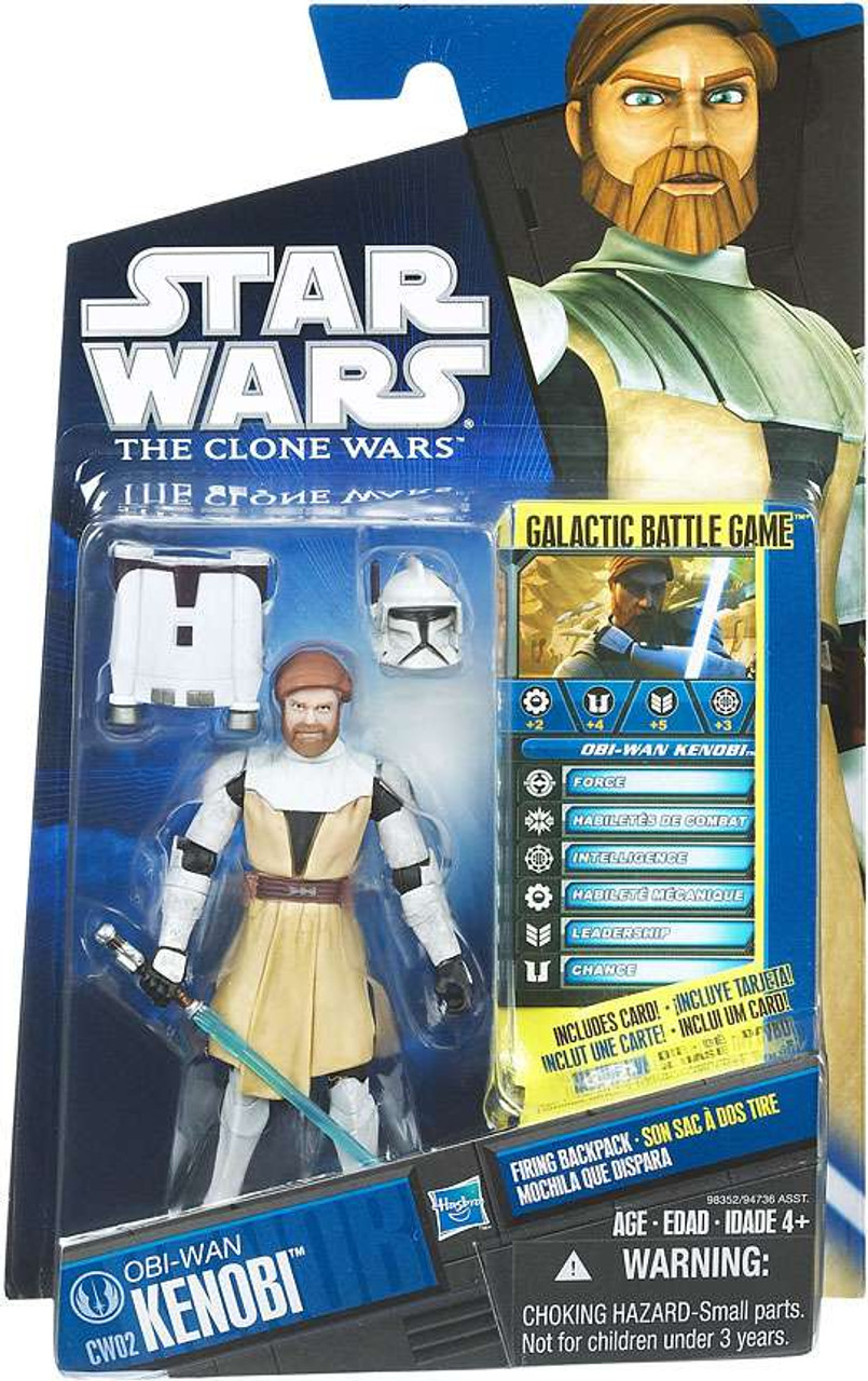 Star Wars The Clone Wars Clone Wars 2010 Obi-Wan Kenobi Action Figure CW02