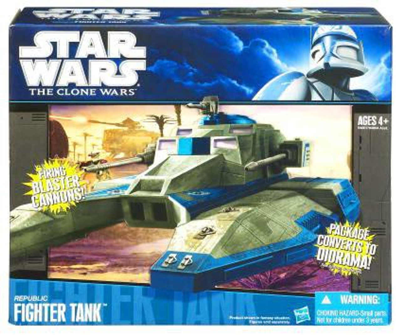 Star Wars The Clone Wars Vehicles 2010 Republic Fighter Tank Action Figure Vehicle