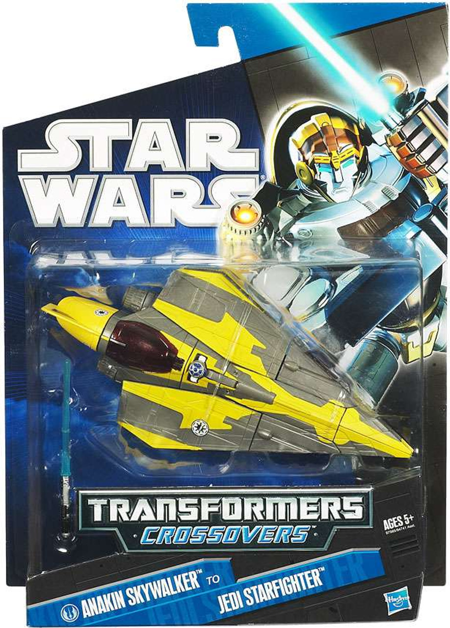 Star Wars Revenge of the Sith Transformers Crossovers 2010 Anakin Skywalker to Jedi Starfighter Action Figure