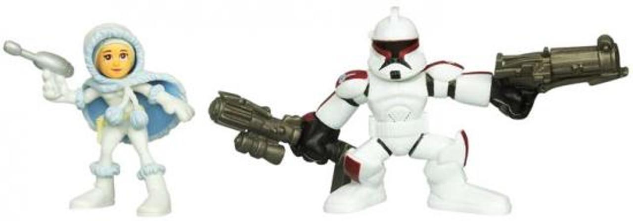 Star Wars The Clone Wars Galactic Heroes 2010 Clone Trooper & Padme Amidala [Snow Gear] Mini Figure 2-Pack