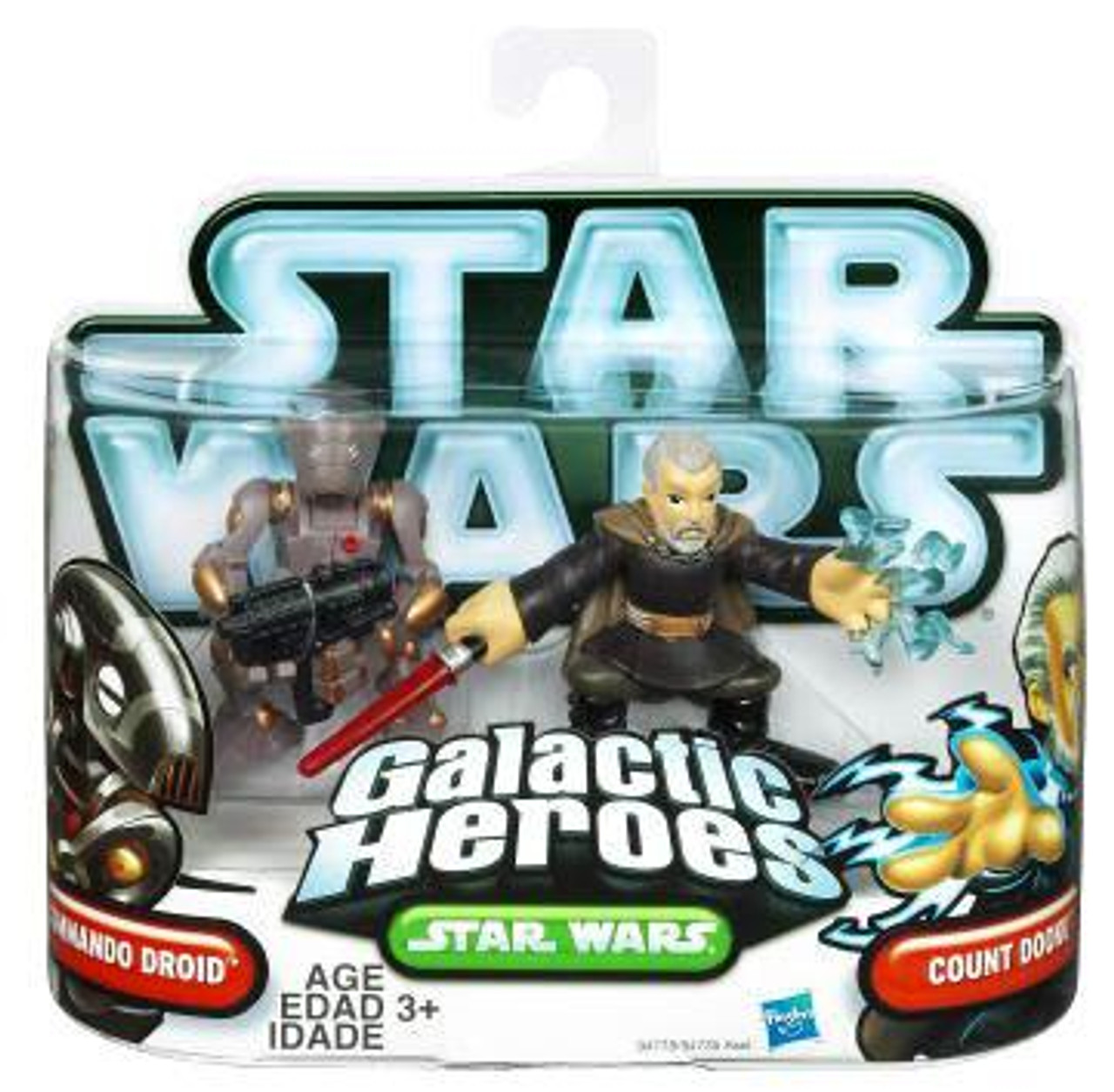 Star Wars The Clone Wars Galactic Heroes 2010 Count Dooku & Commando Droid Mini Figure 2-Pack