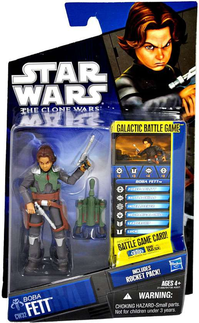 Star Wars The Clone Wars Clone Wars 2010 Boba Fett Action Figure CW32