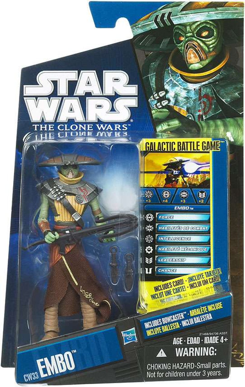 Star Wars The Clone Wars Clone Wars 2010 Embo Action Figure CW33