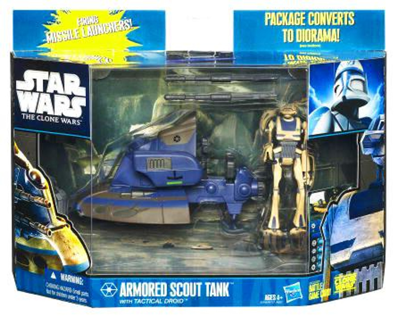 Star Wars The Clone Wars Vehicles & Action Figure Sets 2010 Armored Scout Tank with Tactical Droid Action Figure Set