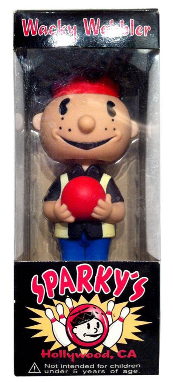 Funko Sparky's Wacky Wobbler Sparky Bowler Exclusive Bobble Head