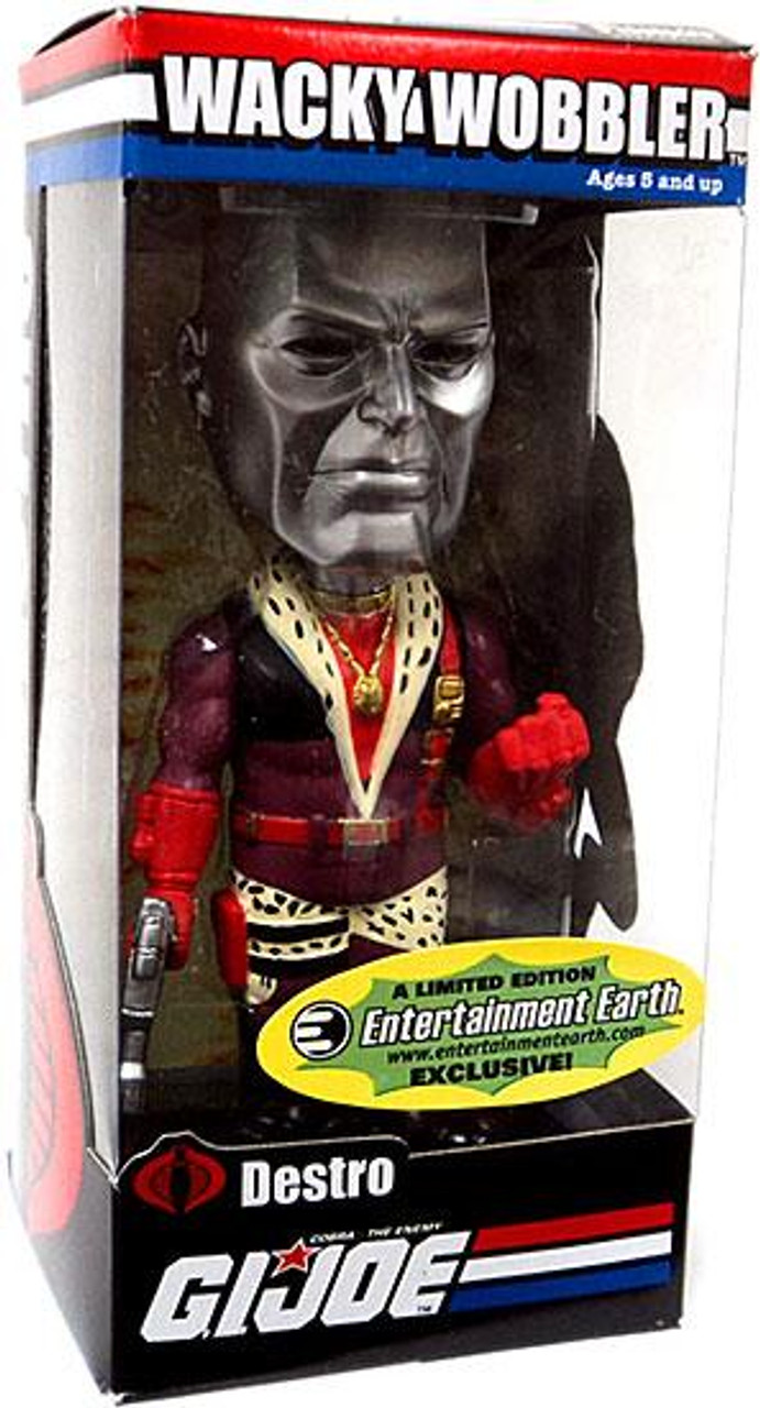 Funko GI Joe Wacky Wobbler Pimp Daddy Destro Exclusive Bobble Head