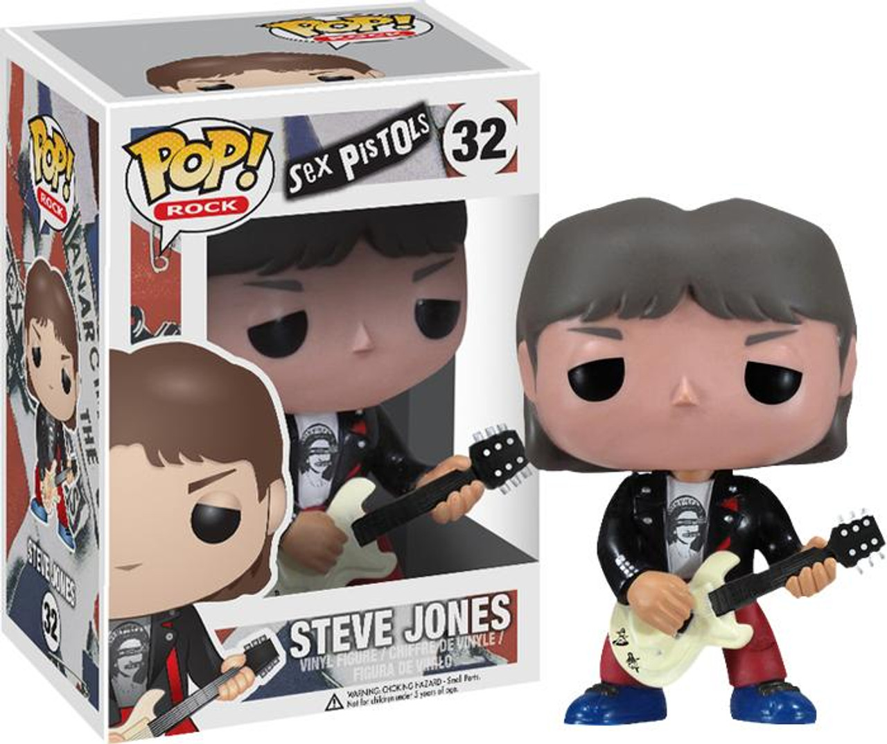 Sex Pistols Funko POP! Rocks Steve Jones Vinyl Figure #32
