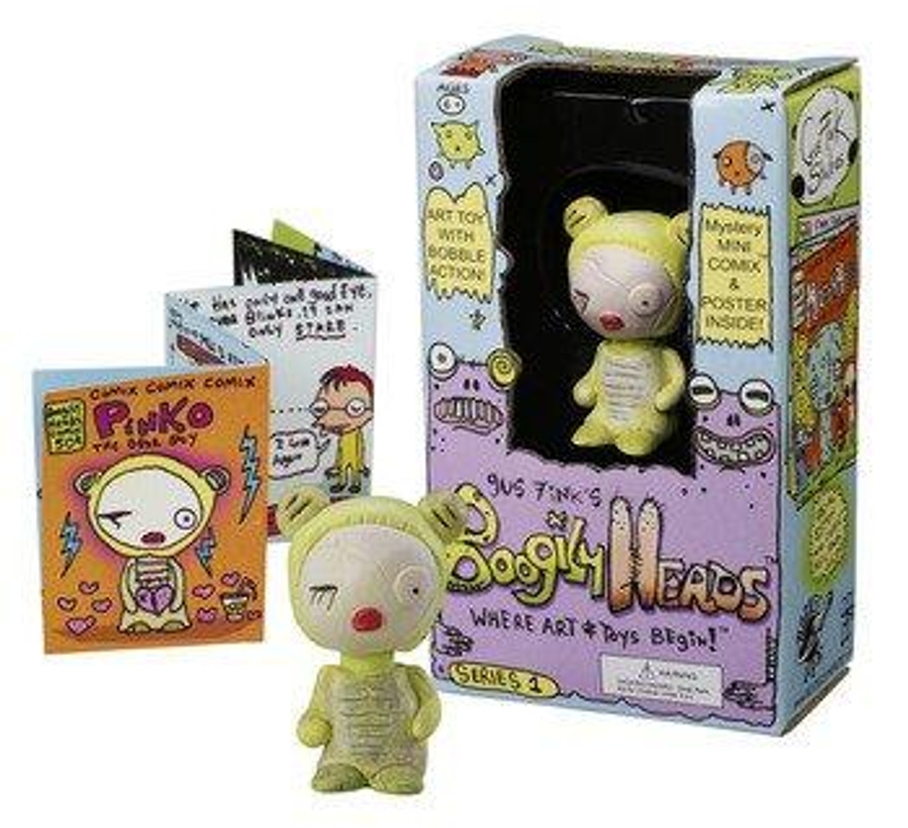 Funko Boogily Bunnies Series 1 Pinko Mini Bobble Head