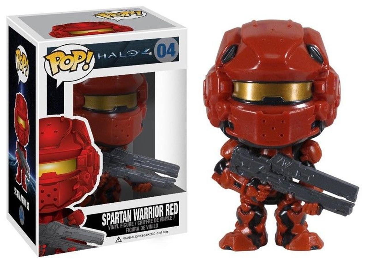 Halo 4 Funko POP! Halo Spartan Warrior Red Vinyl Figure #04