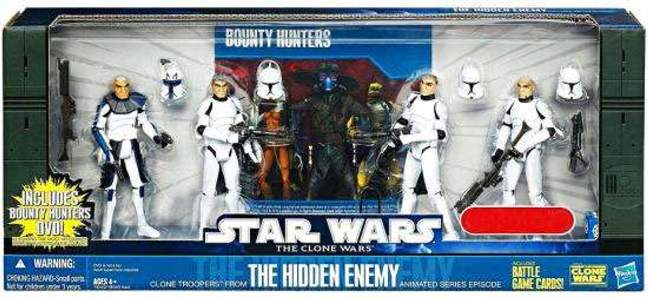 Star Wars The Clone Wars Hidden Enemy Exclusive Action Figure 4-Pack