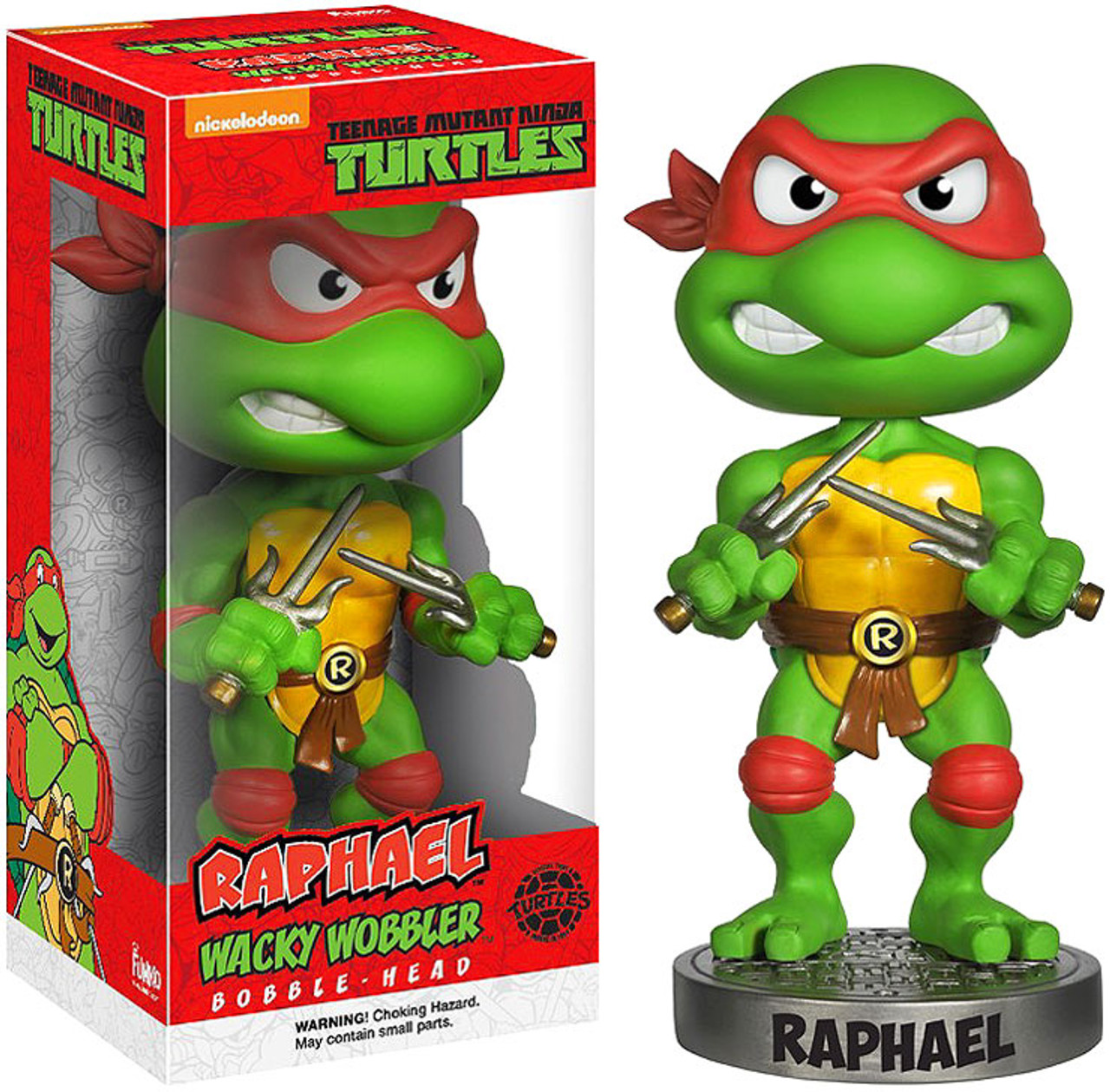Funko Teenage Mutant Ninja Turtles Wacky Wobbler Raphael Bobble Head
