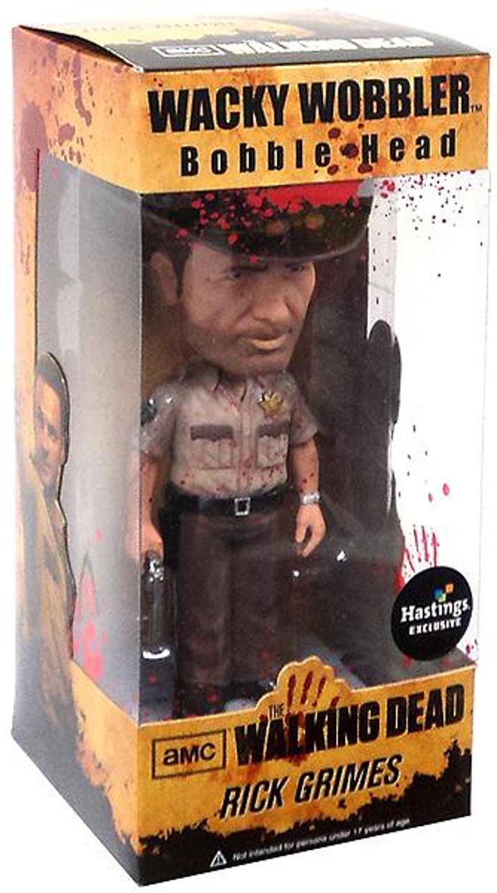 Funko Walking Dead Wacky Wobbler Rick Grimes Exclusive Bobble Head [Bloody]