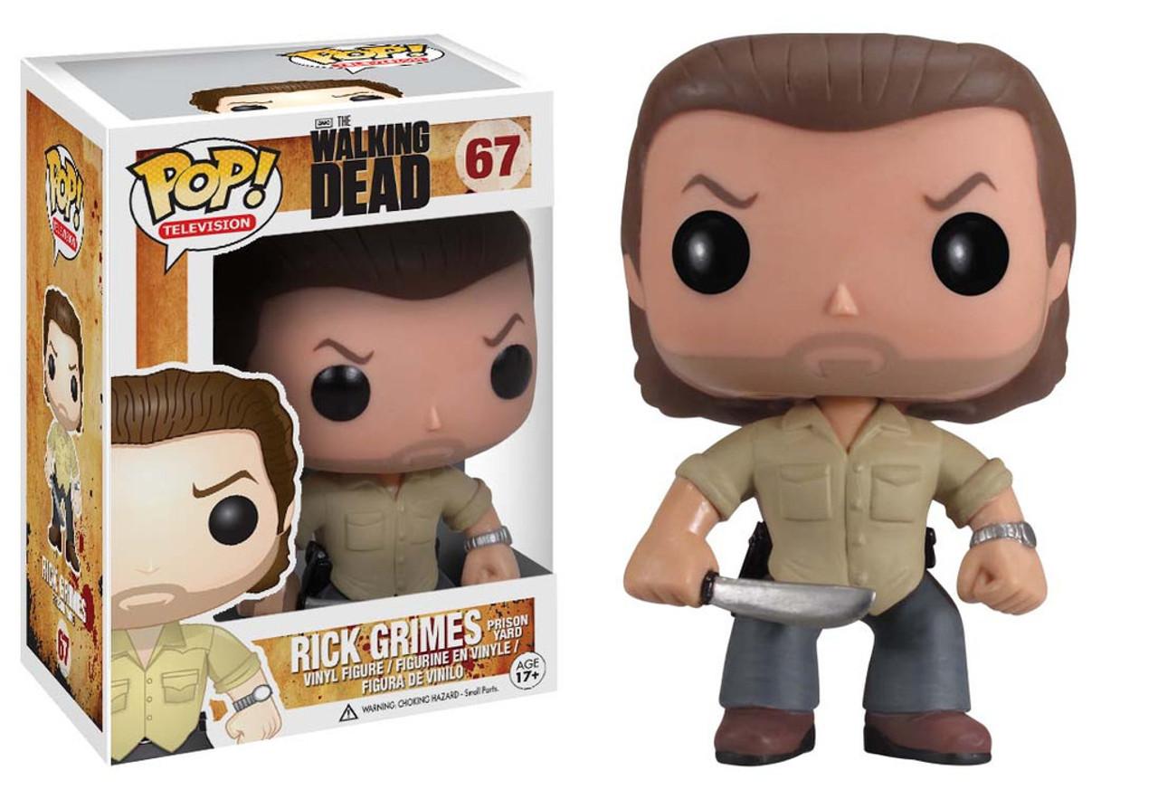 Walking Dead Funko POP! TV Prison Yard Rick Grimes Vinyl Figure #67