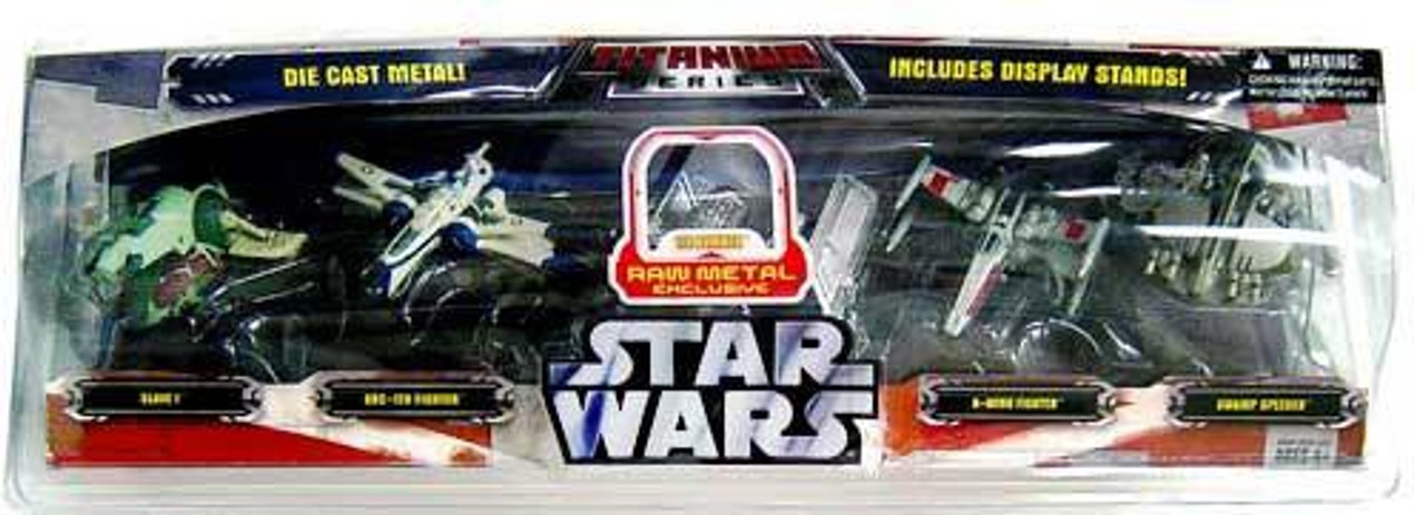 Star Wars Titanium Series 2007 5-Pack Exclusive Diecast Vehicle Set