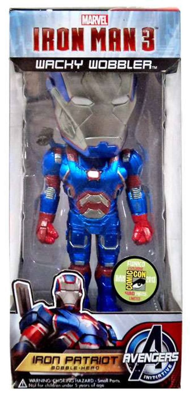 Funko Iron Man 3 Wacky Wobbler Iron Patriot Exclusive Bobble Head [Metallic]