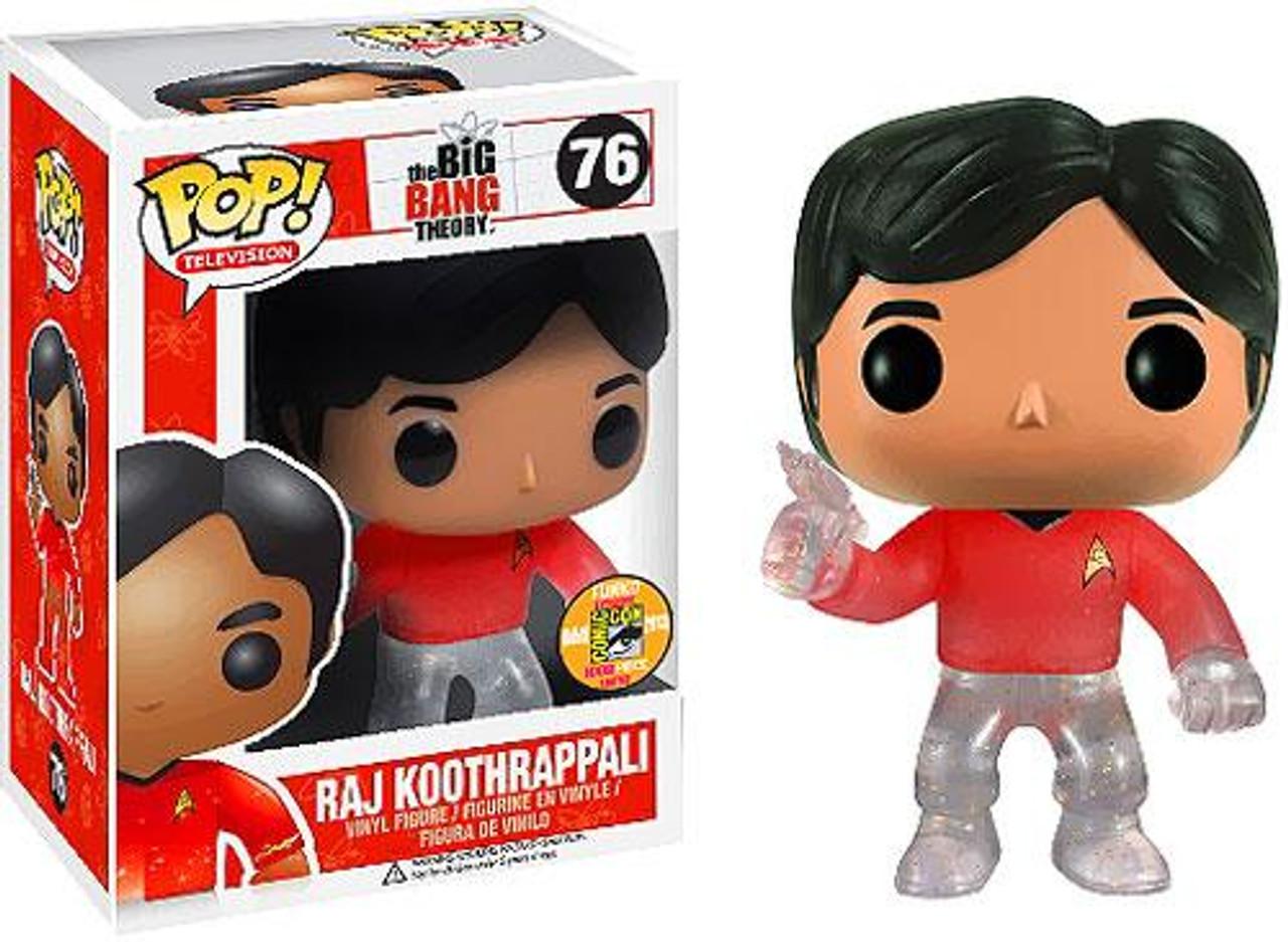 The Big Bang Theory Funko POP! TV Raj Koothrappali Exclusive Vinyl Figure #76 [Star Trek]
