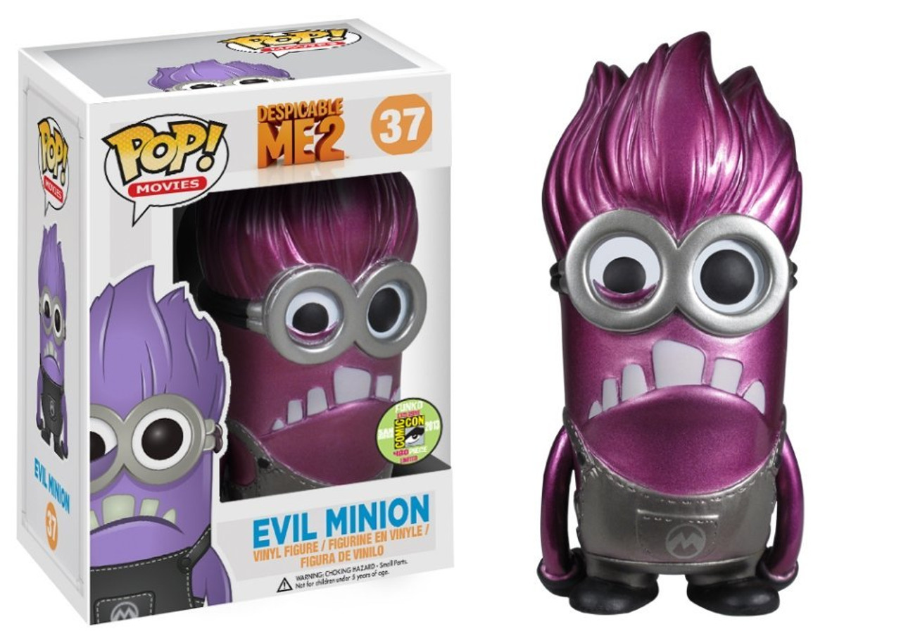 Despicable Me 2 Funko POP! Movies Evil Minion Exclusive Vinyl Figure #37 [Metallic]