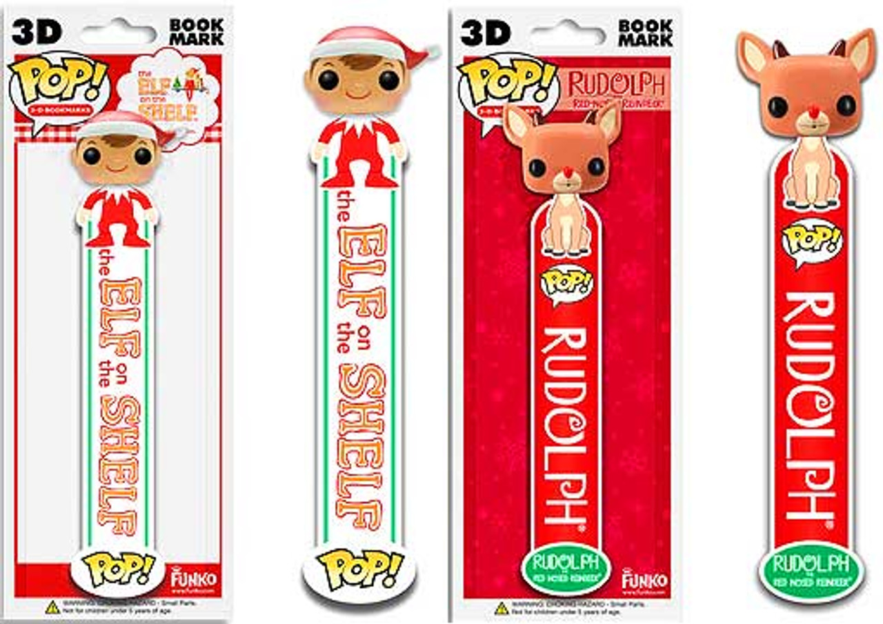 The Elf on the Shelf Funko POP! Holidays Elf & Rudolph Bookmarks