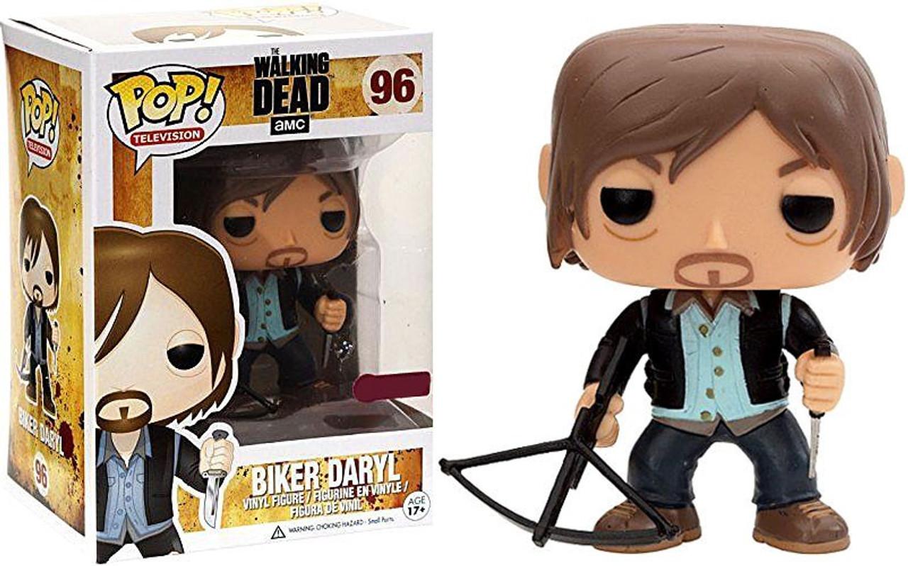 Walking Dead Funko POP! TV Biker Daryl Dixon Exclusive Vinyl Figure #96 [Clean Version]