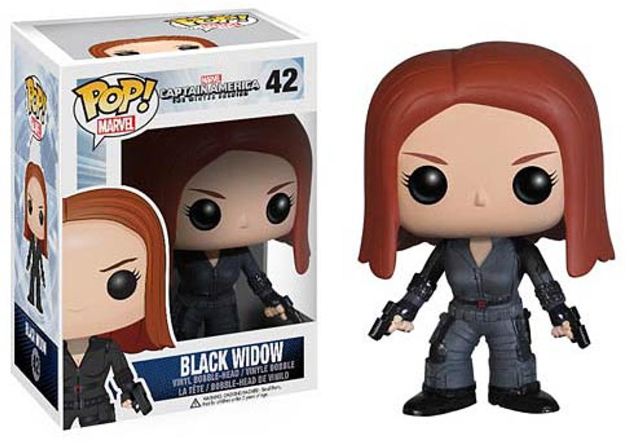 Captain America: The Winter Soldier Funko POP! Marvel Black Widow Vinyl Bobble Head #42