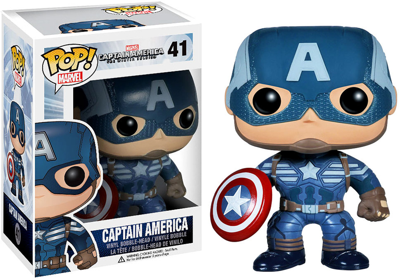 Captain America: The Winter Soldier Funko POP! Marvel Captain America Vinyl Bobble Head #41 [Winter Soldier]