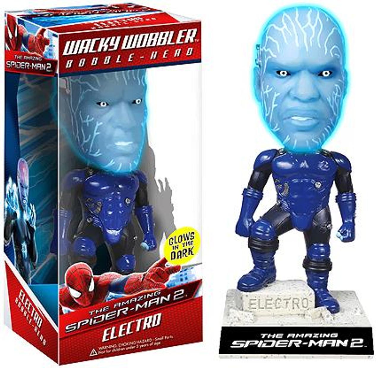 Funko The Amazing Spider-Man Wacky Wobbler Electro Bobble Head [Glowin the Dark]