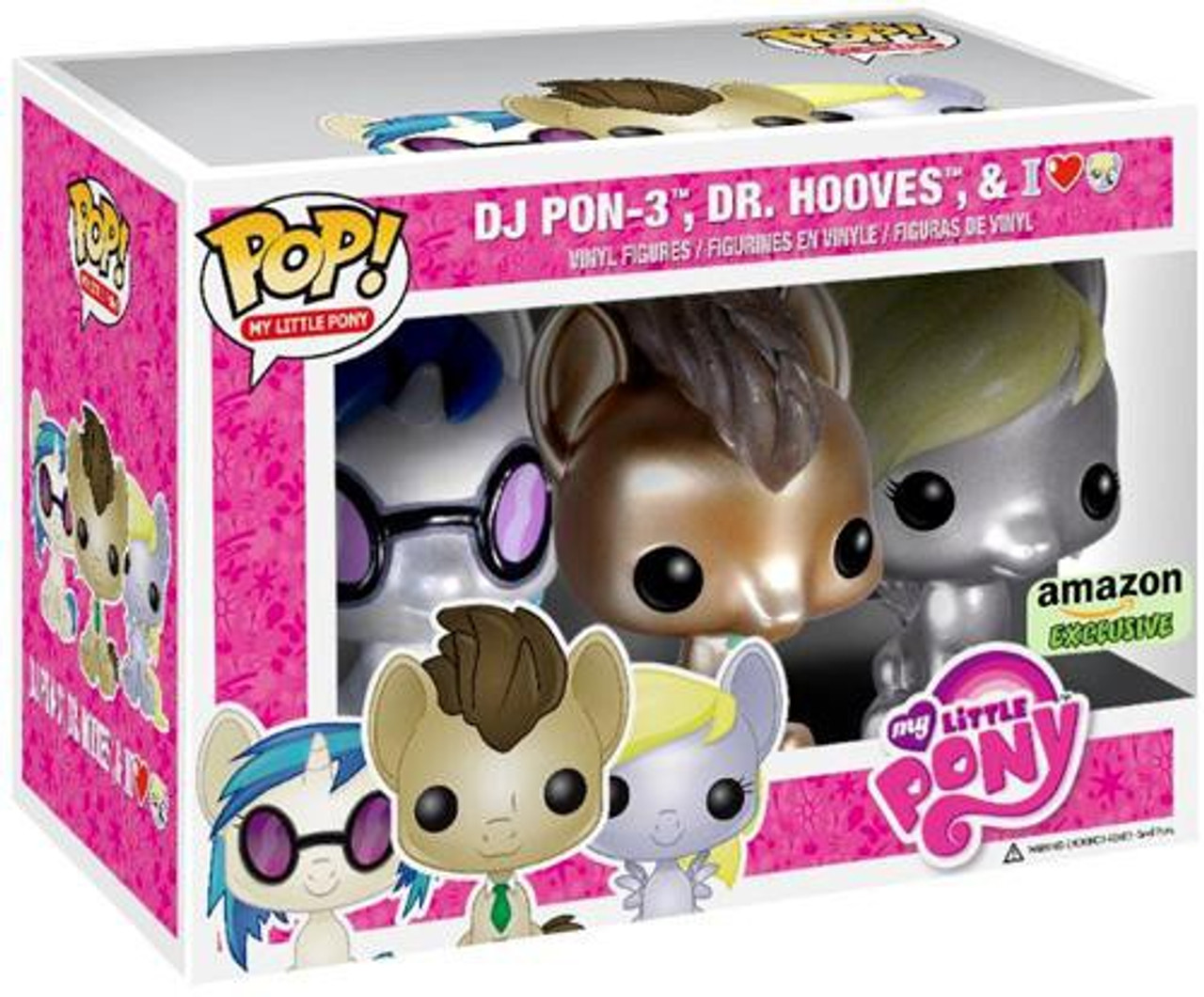 Funko POP! My Little Pony DJ PON-3, Dr. Hooves & Derpy Hooves Exclusive Vinyl Figure 3-Pack
