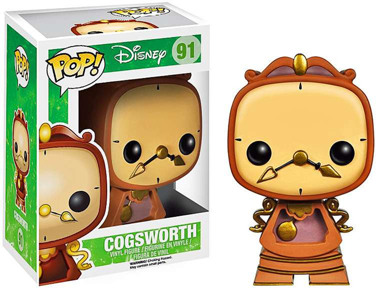 Beauty and the Beast Funko POP! Disney Cogsworth Vinyl Figure #91 [Animated Version]