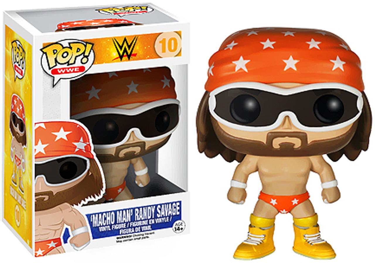 WWE Wrestling Funko POP! Macho Man Randy Savage Vinyl Figure #10 [Orange Trunks]
