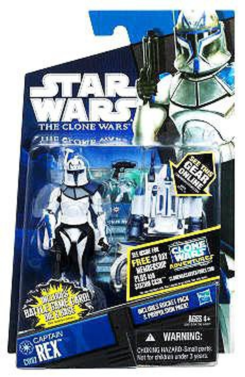 Star Wars The Clone Wars Clone Wars 2011 Captain Rex Action Figure CW62 [With Jet Pack]