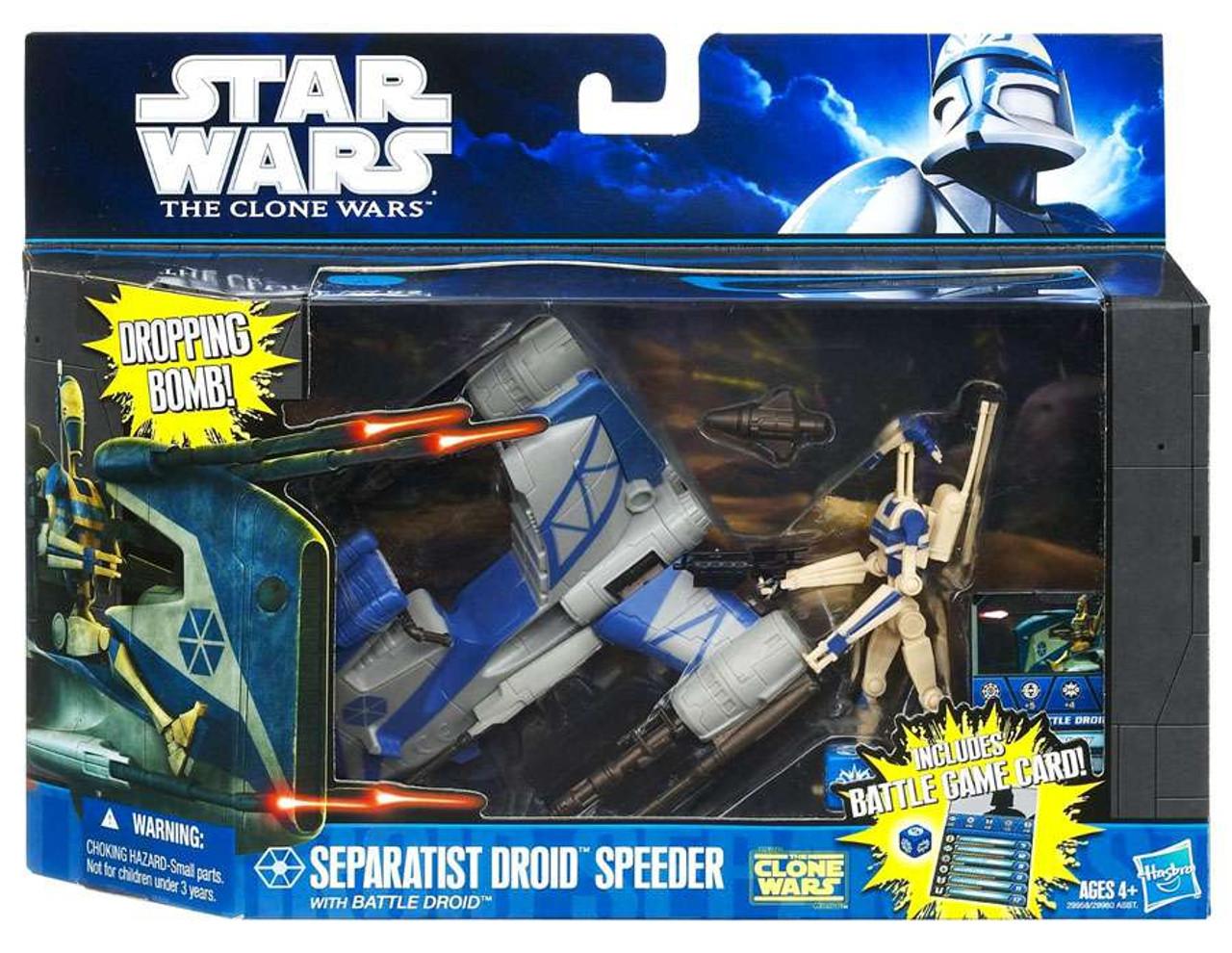Star Wars The Clone Wars Separatist Droid Speeder with Battle Droid Vehicle & Action Figure