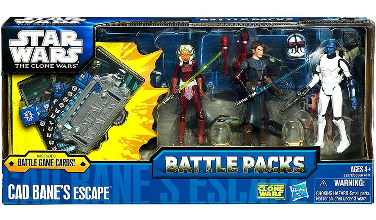 Star Wars The Clone Wars Battle Packs 2011 Cad Bane's Escape Action Figure Set