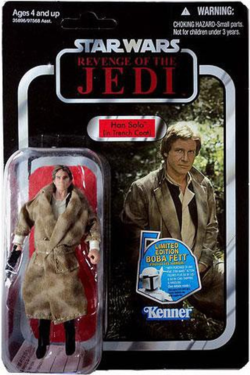 Star Wars Return of the Jedi Vintage Collection 2011 Han Solo Action Figure #62 [Trench Coat]