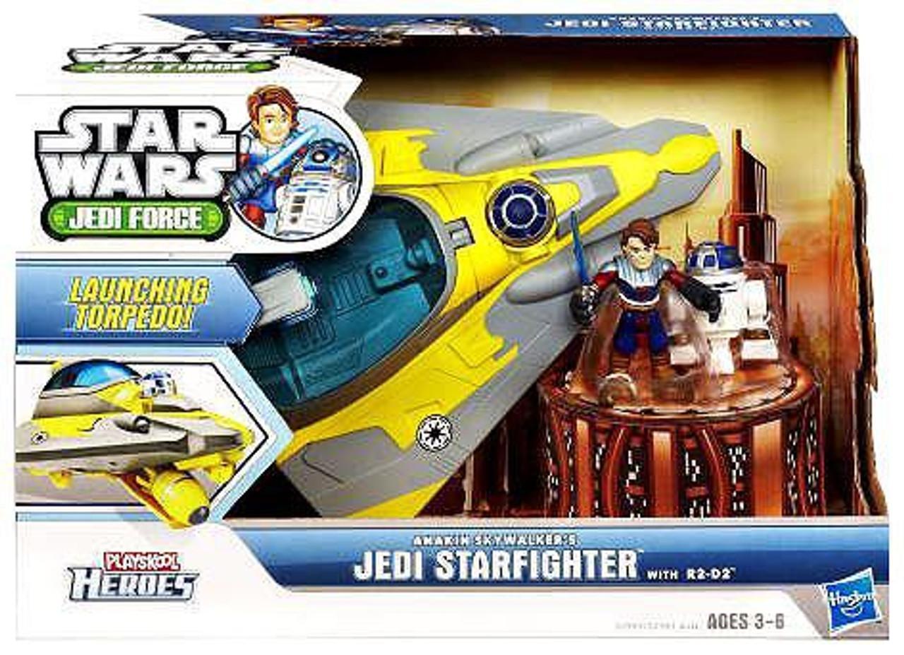 Star Wars Jedi Force Anakin Skywalker's Jedi Starfighter with R2-D2 Mini Figure Set