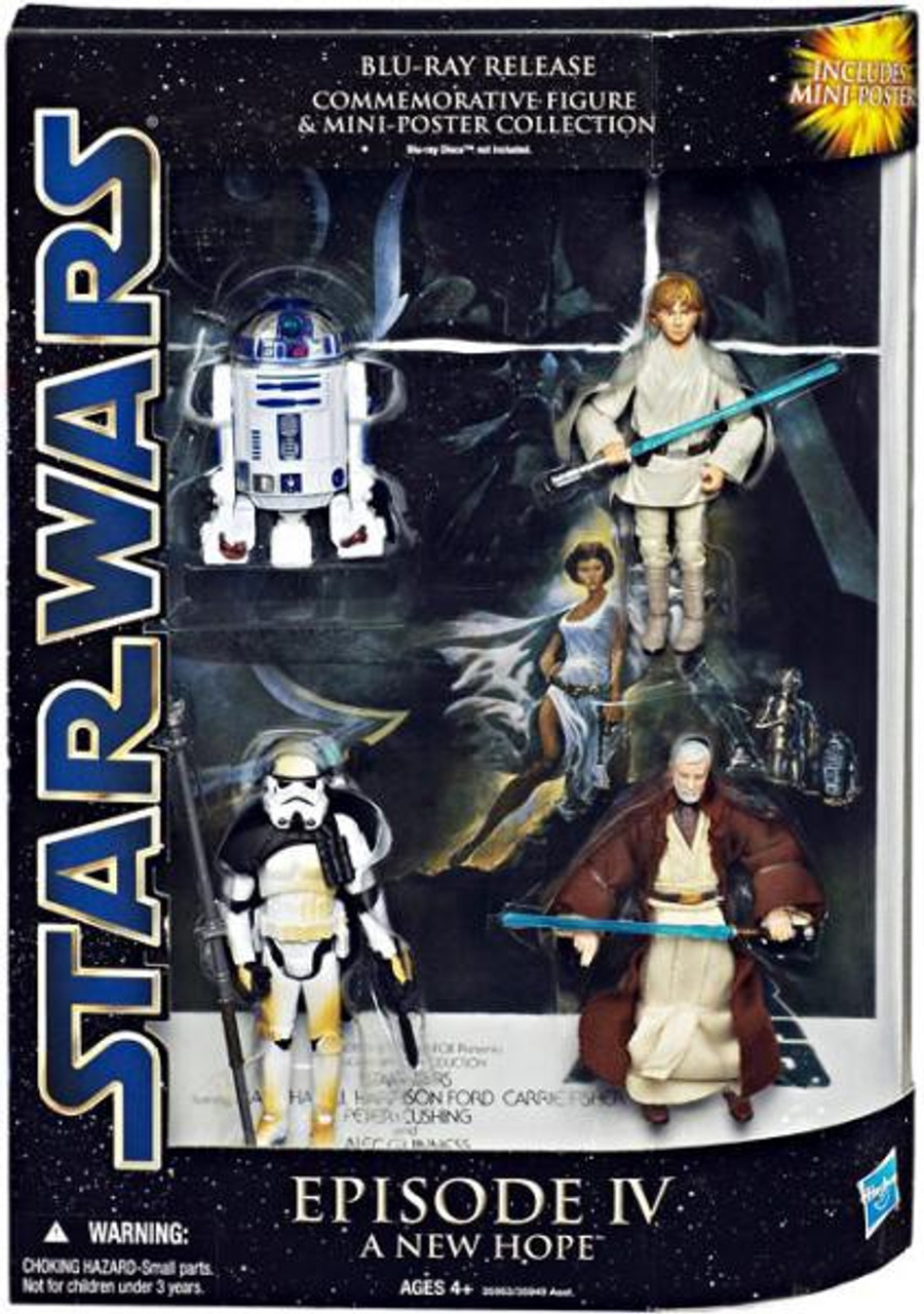 Star Wars A New Hope DVD Collections Blu-Ray Release Commemorative Action Figure Set [Episode IV]