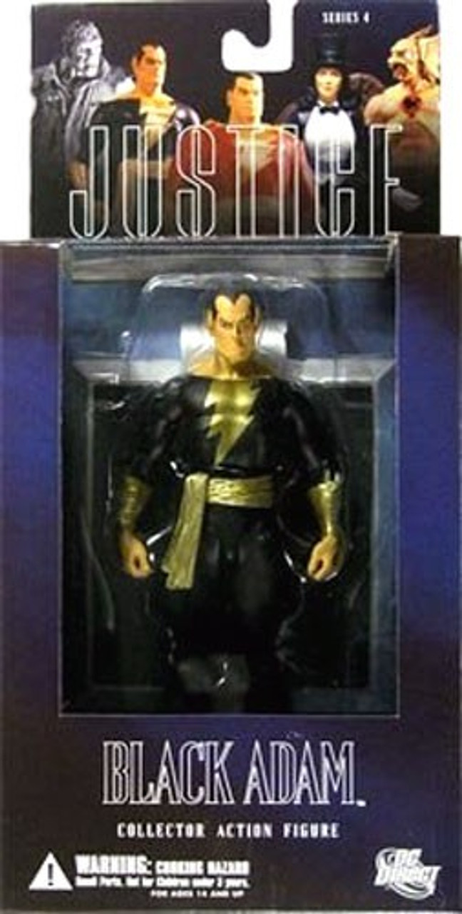 DC Shazam Alex Ross Justice League Series 4 Black Adam Action Figure
