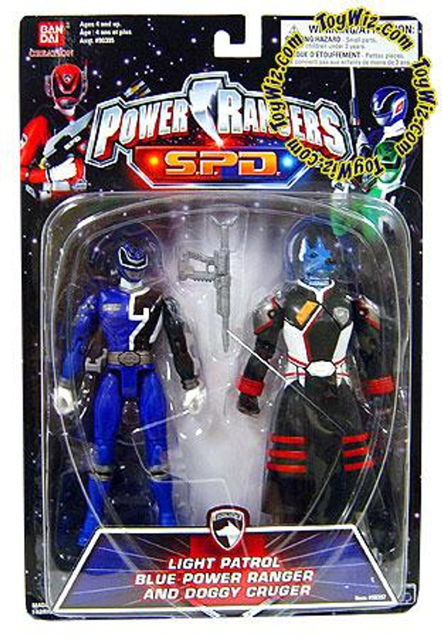 Power Rangers SPD Light Patrol Blue Power Ranger and Doggy Cruger Action Figure 2-Pack