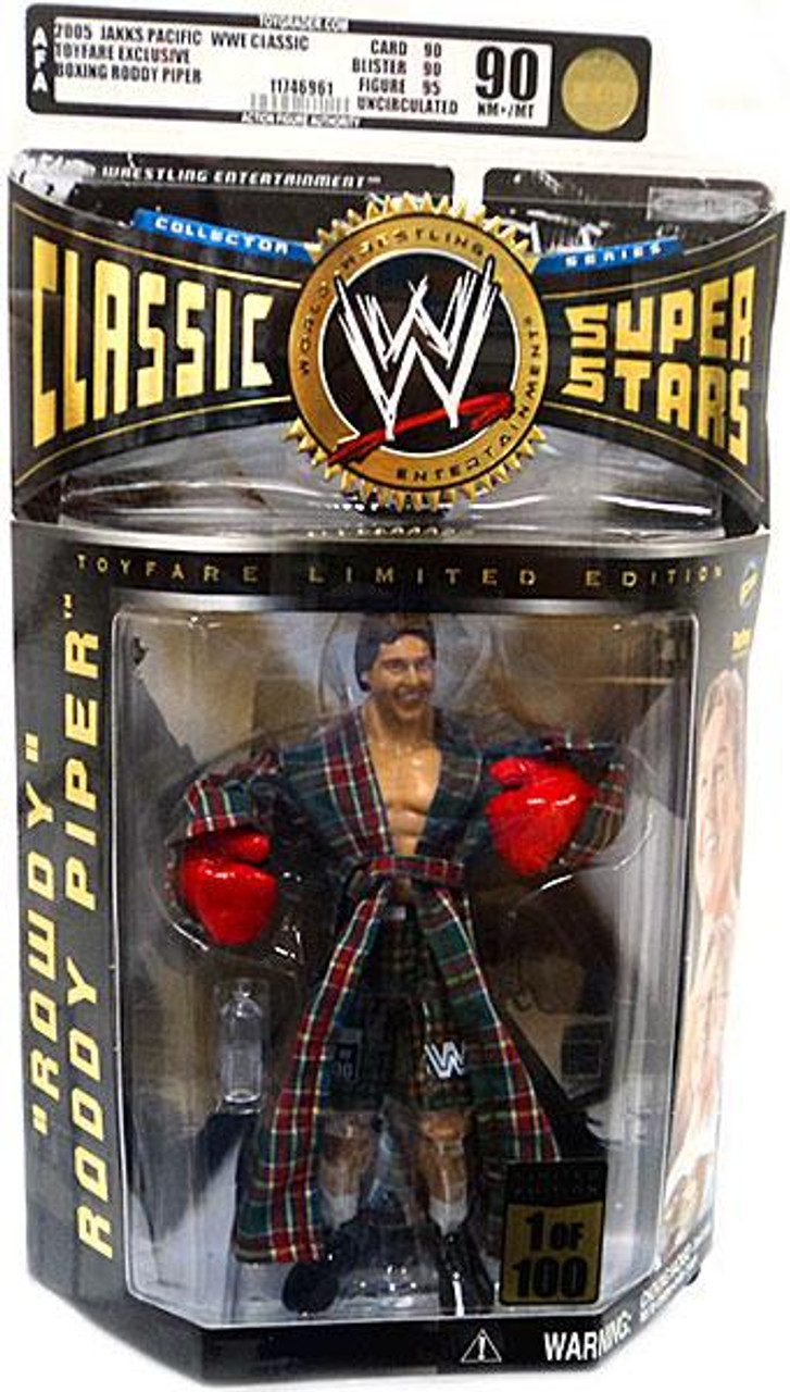 WWE Wrestling Classic Superstars Exclusives Boxing Rowdy Roddy Piper Exclusive Action Figure [AFA Graded 90]